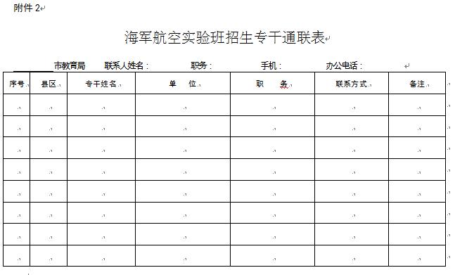 河南省教育厅关于做好2016年海军航空实验班招生工作的通知