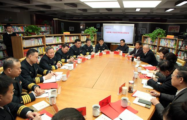 海军政治工作部副主任夏平少将调研河南省海军航空实验班建设工作